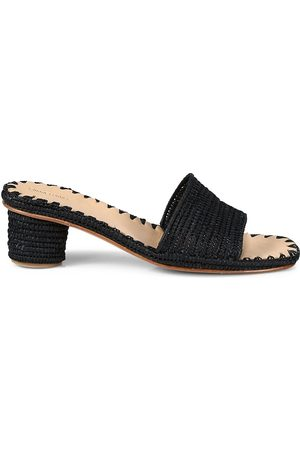 Carrie Forbes Women's Bou Raffia Mules - - Size 35 (5)