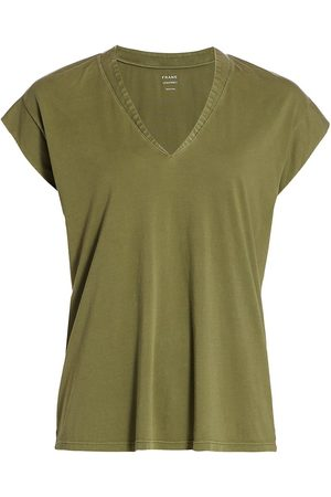 Frame Women's Le Mid Rise V-Neck Tee - - Size XL