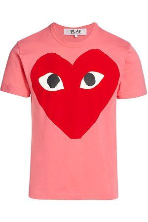 Comme des Garçons Men's Large Center Heart Graphic T-Shirt - - Size Large