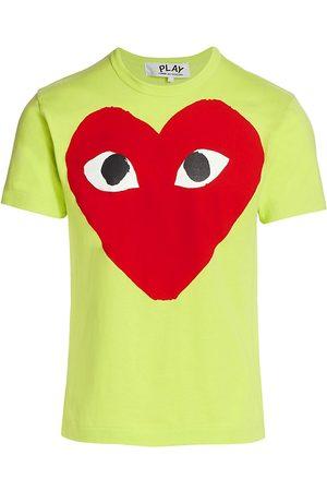 Comme des Garçons Men's Large Center Heart Graphic T-Shirt - - Size XL