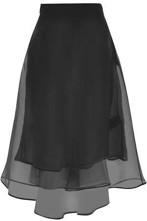 Msgm Women's Silk Organza Midi Skirt - - Size 8