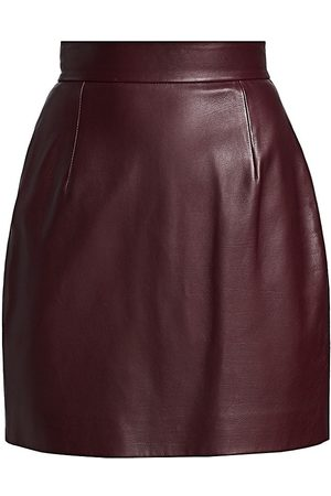 Khaite Women's Eiko Leather Mini Skirt - - Size 6