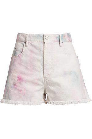 Isabel Marant Women's Lesiab Tie-Dye Denim Shorts - - Size 44 (12)