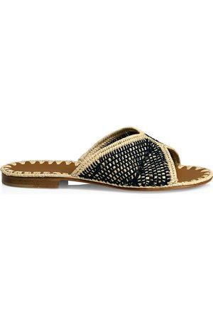 Carrie Forbes Women's Salon Raffia Slide Sandals - - Size 39 (9)