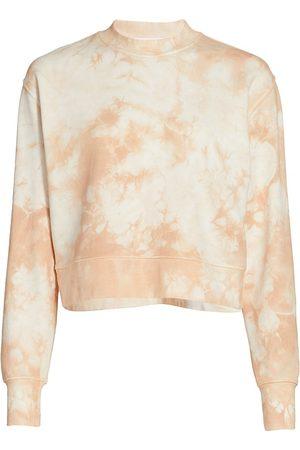 Jonathan Simkhai Standard Women's Tie-Dye Cropped Sweatshirt - - Size Small