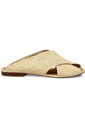 Carrie Forbes Women's Arielle Raffia Slide Sandals - - Size 41 (11)