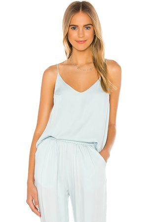 Indah Vanya Solid Simple Camisole in Baby Blue.