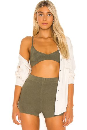 One Grey Day X REVOLVE Colette Bralette in Green.