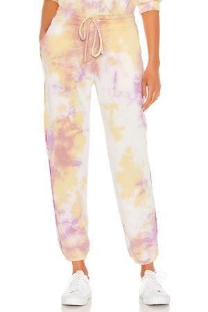 MICHAEL STARS X REVOLVE Tie Dye Sweatpants in Yellow,Pink.