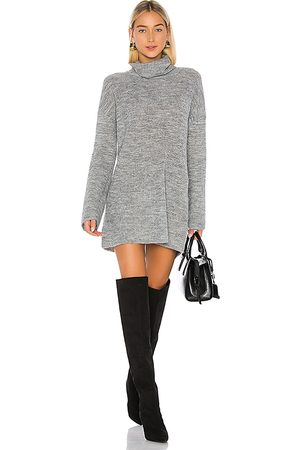 L'Academie Sable Sweater Dress in Gray.