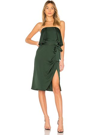 Lovers + Friends Violet Midi in Green.