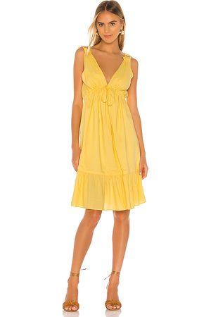 MAJORELLE Esther Midi Dress in Yellow.