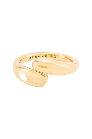 Jenny Marta Wrap Ring in Metallic .