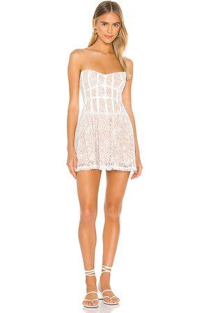 For Love & Lemons Jelena Strapless Dress in .