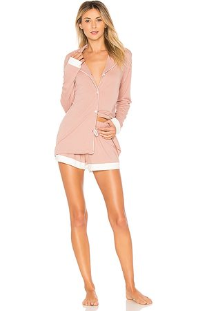 Cosabella Bella Bridal PJ Set in Pink.