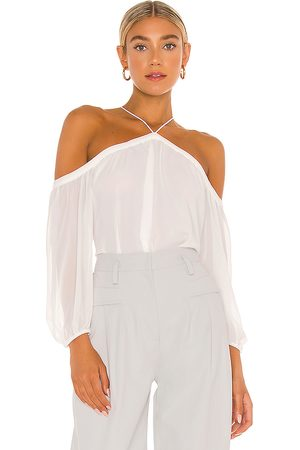 1. STATE High Neck Blouse in White.