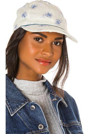 LOVESHACKFANCY Therese Hat in Blue.