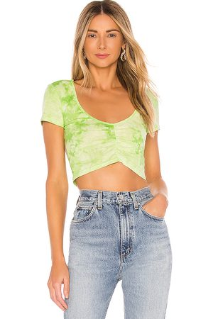 superdown Penni Ruched Top in Green.