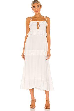 Tularosa Tie Front Midi Dress in .