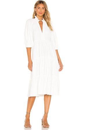 Amanda Uprichard Saffron Midi Dress in White.