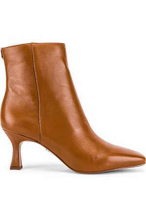 Sam Edelman Lizzo Bootie in Brown.