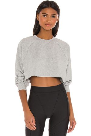 alo Double Take Pullover in Grey.