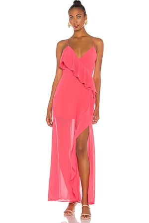 Lovers + Friends Darcy Maxi Dress in Pink.