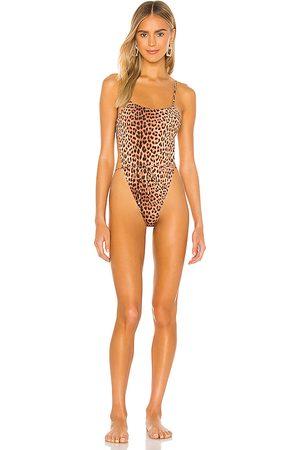 Monica Hansen Beachwear Women Swimsuits - Bardot One Piece in Brown.
