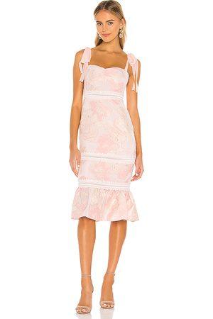 NBD Regina Midi Dress in Pink.