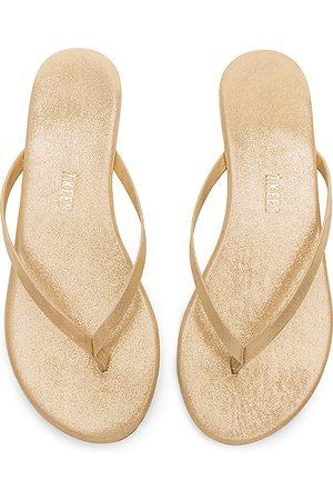 Tkees Glitters Flip Flop in Metallic Gold.