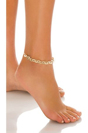 8 Other Reasons Rock My World Anklet in Metallic .