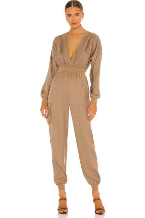 Michael Costello X REVOLVE Dolman Sleeve Jumpsuit in Tan.