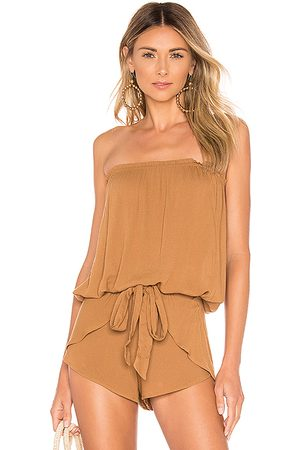 Indah Gemma Tube Top in Brown.