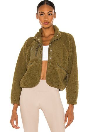Free People X FP Movement Hit The Slopes Jacket in Army.
