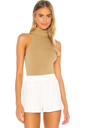 Lovers + Friends Knash Top in Taupe.