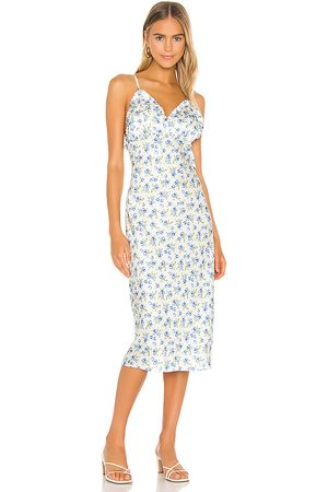 Song of Style Essie Midi Dress in White.