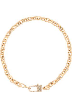 Ettika Lock Necklace in Metallic .