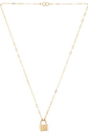 Joy Dravecky Jewelry Monaco Lock Necklace in Metallic .