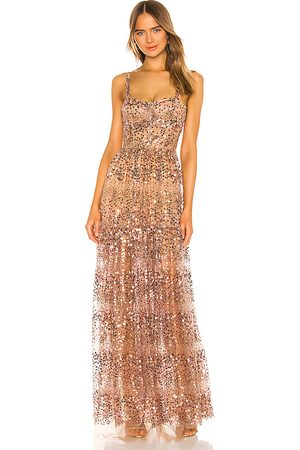Bronx and Banco Runway Midnight Gown in Metallic .