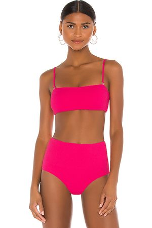 Eberjey Pique Summer Bikini Top in Fuchsia.