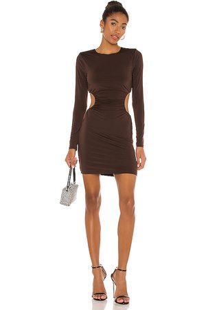 NBD Cienaga Mini Dress in Brown.