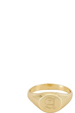 The M Jewelers Signet Ring in Metallic .