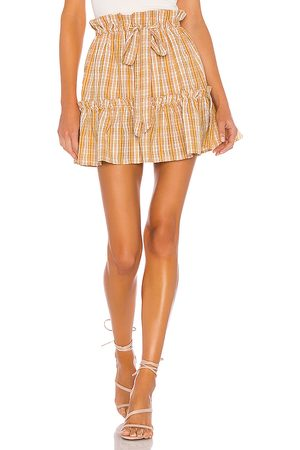 MAJORELLE Charlie Mini Skirt in Yellow.