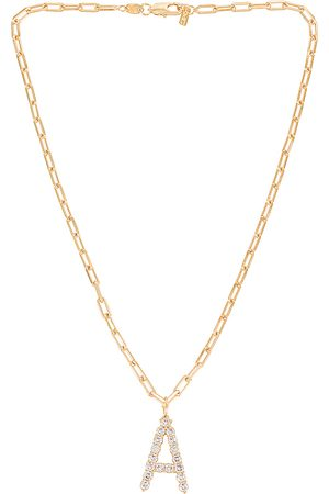 Martha Calvo X REVOLVE CZ Initial Necklace in Metallic .