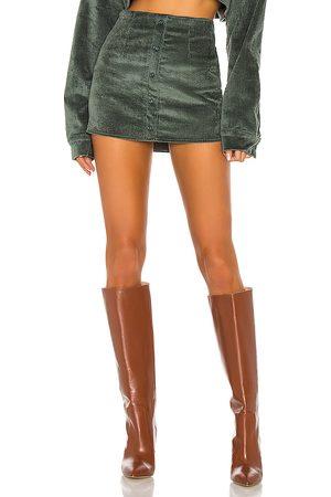 DANIELLE GUIZIO Corduroy Button Up Skirt in .