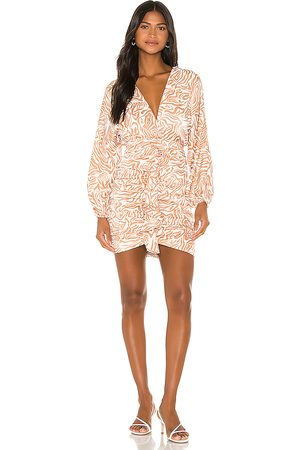 Song of Style Weston Mini Dress in White,Tan.