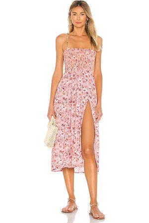 RESA Ashley Midi Dress in Pink.