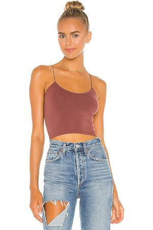 Free People Brami Tank in Chocolate.