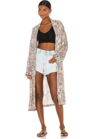 Free People Wild Nights Duster in Tan.