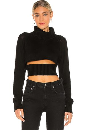 NBD Winston Cropped Turtleneck Sweater in .